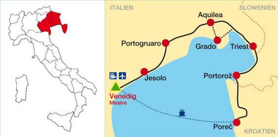 Strande Istrien Karte.Venedig Strande Karte Hanzeontwerpfabriek
